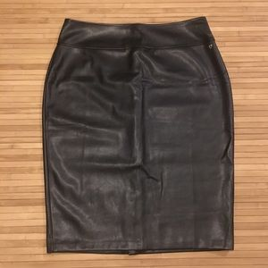 NWT! Faux Leather Skirt